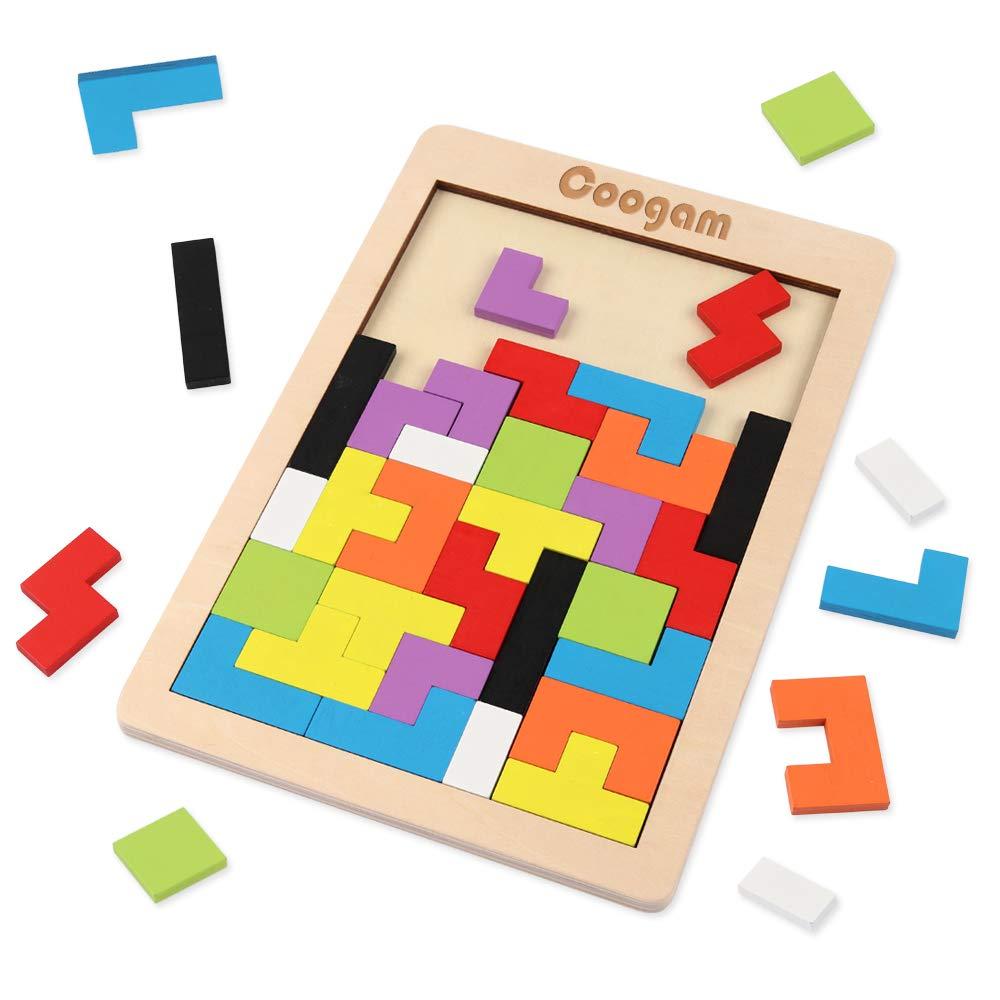 Coogam Wooden Tetris Puzzle