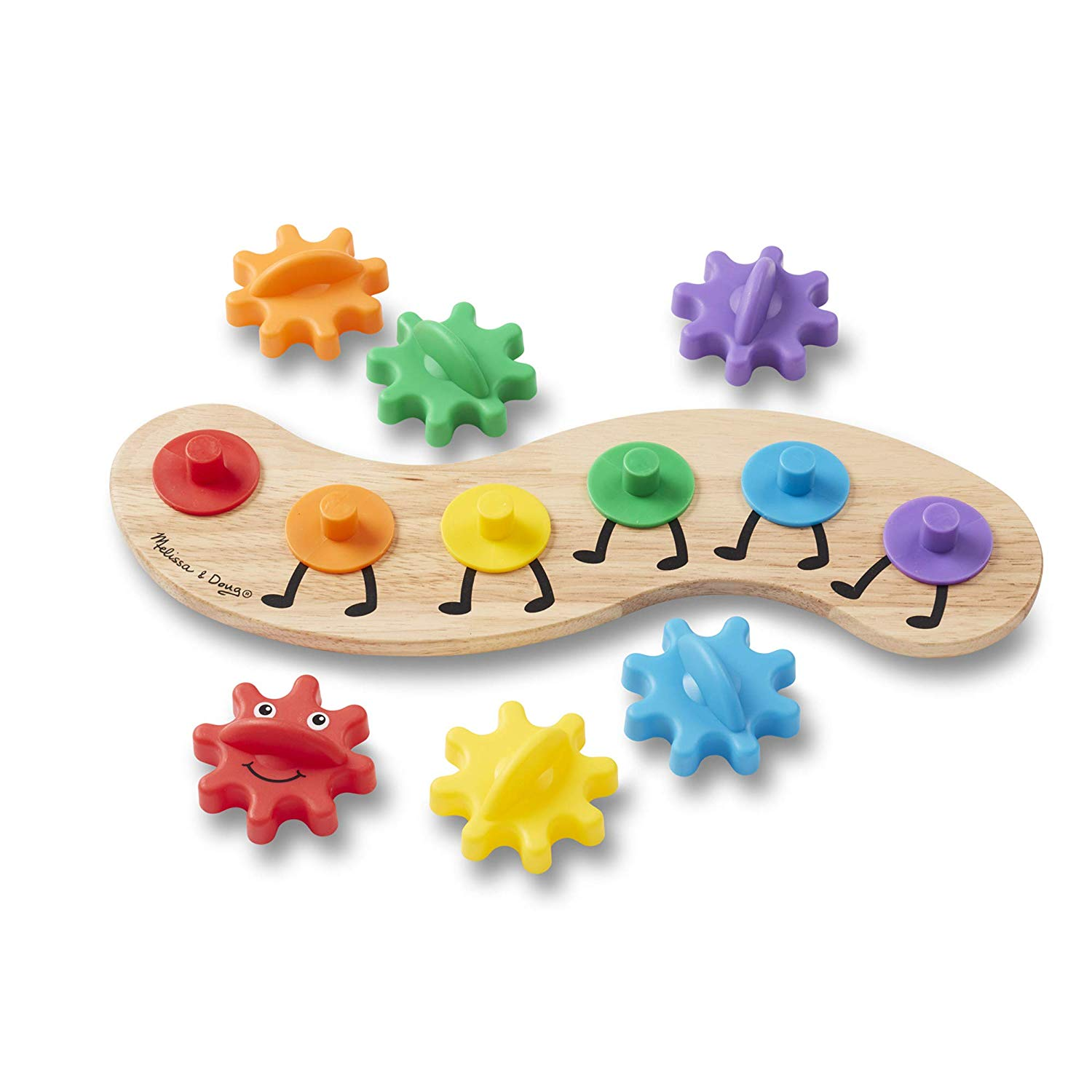 Melissa & Doug Rainbow Caterpillar Gear Toy