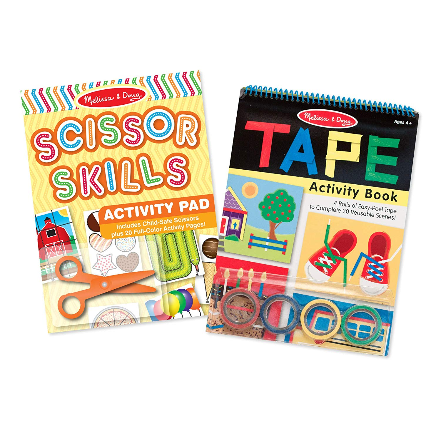 Melissa & Doug Scissor Skills and Tape Activity Pad Set