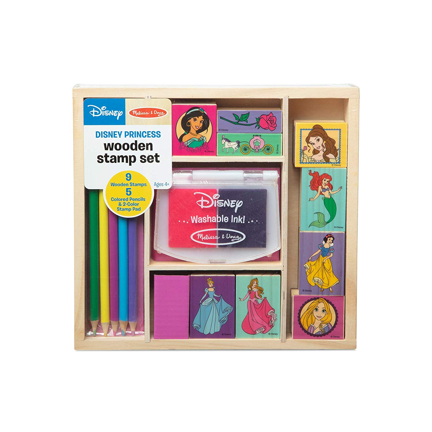 Melissa & Doug Wooden Stamp Set Disney Princesses