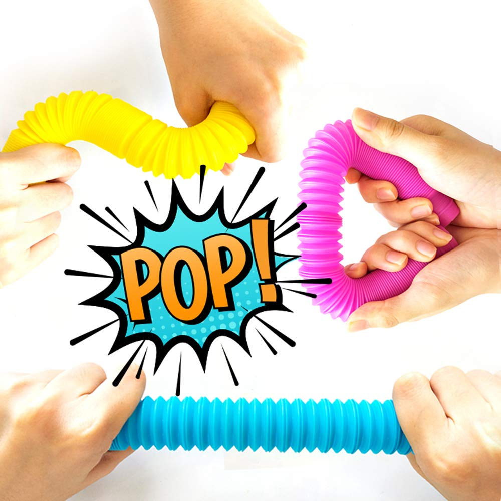 OleOletOy Pop Tubes Sensory Fidget Toy for Kids