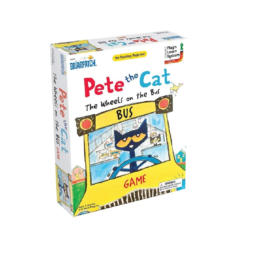 Briarpatch Pete The Cat Wheels On The Bus Sing-Along Puzzle Board Game for Kids