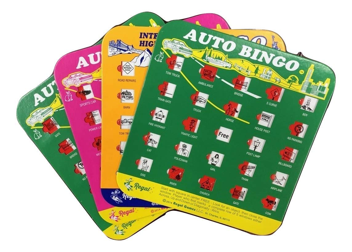Regal Games Original Travel Bingo 4 Pack