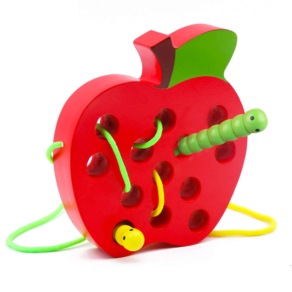 Wooden Apple Lacing Toy