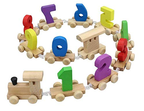 YesToys Wooden Train Set